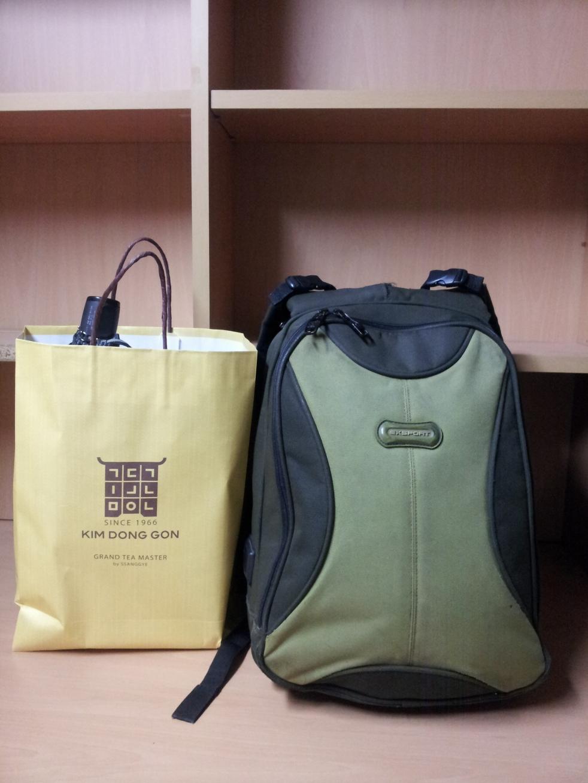 Backpack and Omiyage